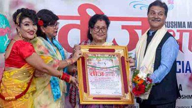 Photo of शर्मा दम्पती सम्मानित