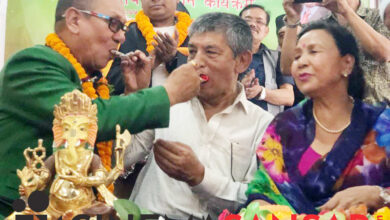 Photo of जन्मदिनमा कलाकार र पत्रकार सम्मानित