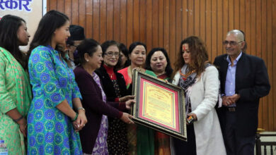 Photo of लय र रेखालाई हरितारा पुरस्कार